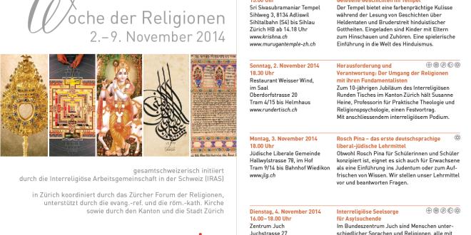 Woche der Religionen 2.- 9. November 2014