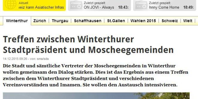 Radio Top Online vom 14. Dezember 2015: «Treffen zwischen Winterthurer Stadtpräsident und Moscheegemeinden»