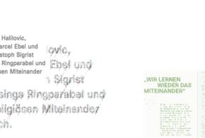 SHZ-Journal vom 20. Januar 2016: «Lessings Ringparabel in Zürich: ein Gespräch mit Imam Halilovic, Rabbiner Ebel und Pfarrer Sigrist»