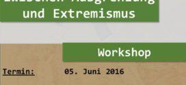 5. Juni – Ummah: Workshop «Junge MuslimInnen zwischen Ausgrenzung und Extremismus»