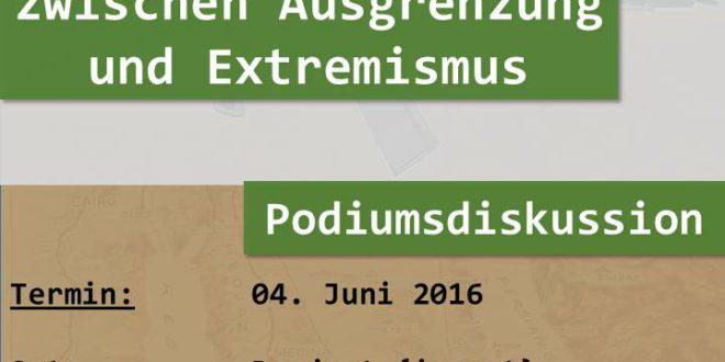 4. Juni – Ummah: Podiumsdiskussion «Junge MuslimInnen zwischen Ausgrenzung und Extremismus»