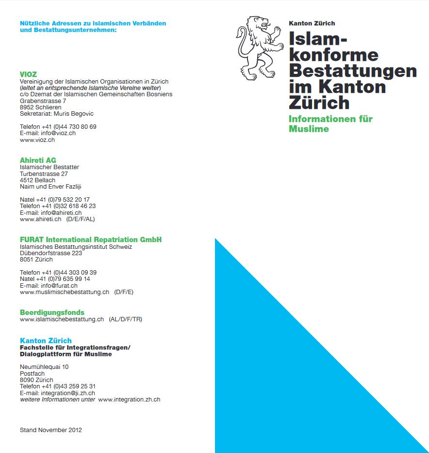 Islamkonforme Bestatung ZH