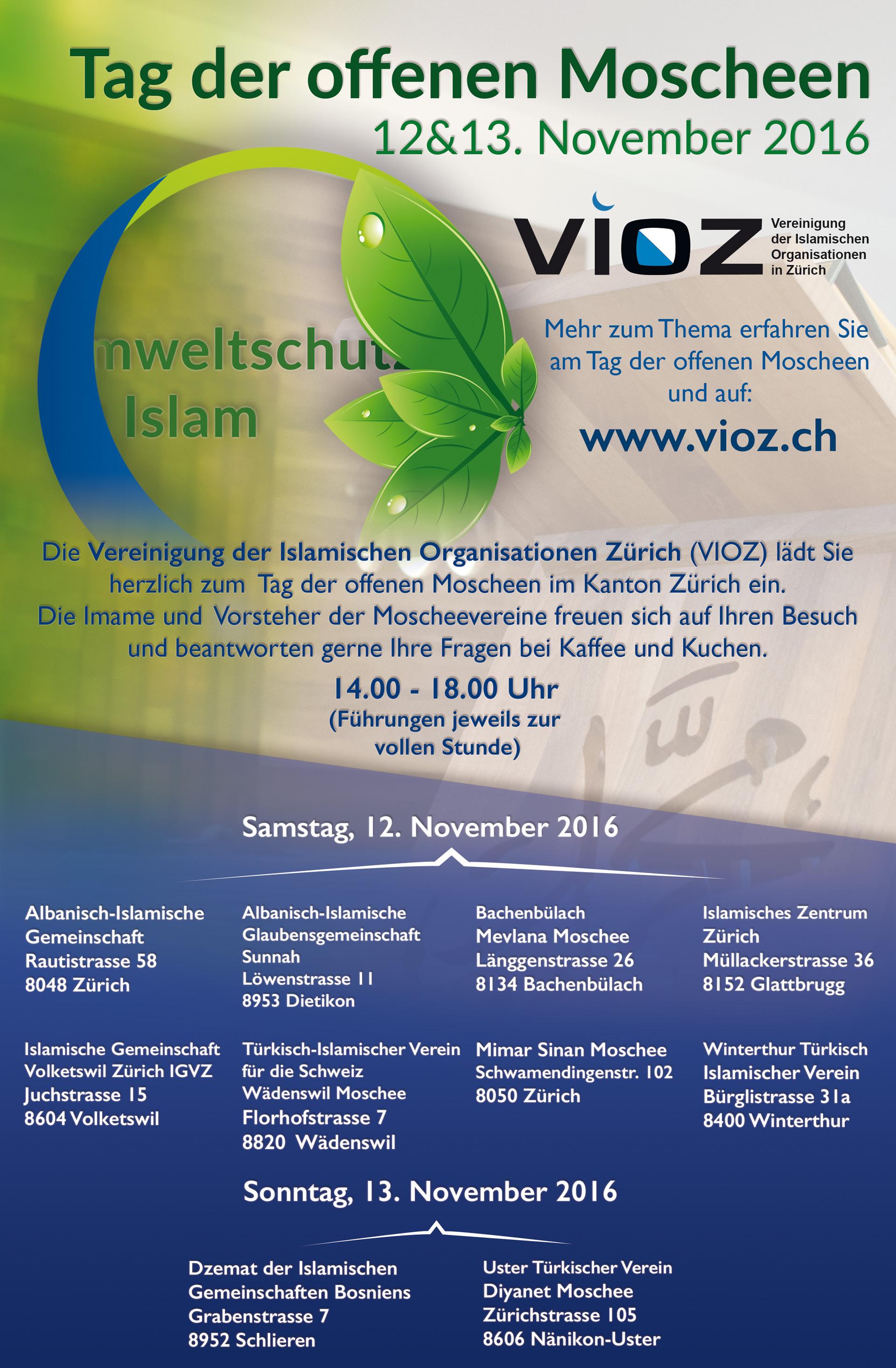 Tag der offenen Moscheen | www.vioz.ch