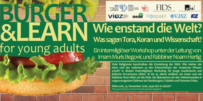 Muslimisch-jüdische Begegnung am 23. November «Burger & Learn for young adults – wie entstand die Welt»