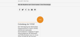 NZZ vom 24. März 2017: «Timeline – Islam im Kanton Zürich»