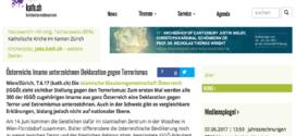kath.ch vom 7. Juni 2017: «Österreichs Imame unterzeichnen Deklaration gegen Terrorismus»