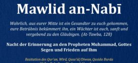 1. Dezember – DSTS: «Nacht der Erinnerung an den Propheten Muhammad (saw) – Mawlid an-Nabi»