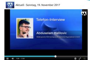 Tele M1 vom 19. November 2017: «Soll der Islam staatlich anerkennt werden?»