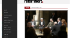 reformiert.info vom 17. November 2017: «Erste Schritte über den tiefen Graben»