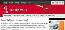 SRF Rendez-Vous vom 23. November 2017: «Neuer Treffpunkt für Islamisten?»