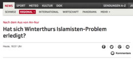 SRF News vom 23. November 2017: «Hat sich Winterthurs Islamisten-Problem erledigt?»