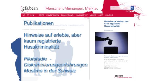 GFS Bern vom 3. Januar 2018: «Pilotstudie Diskriminierungserfahrungen Muslime in der Schweiz»